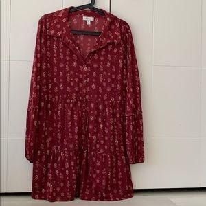 Red dress size medium